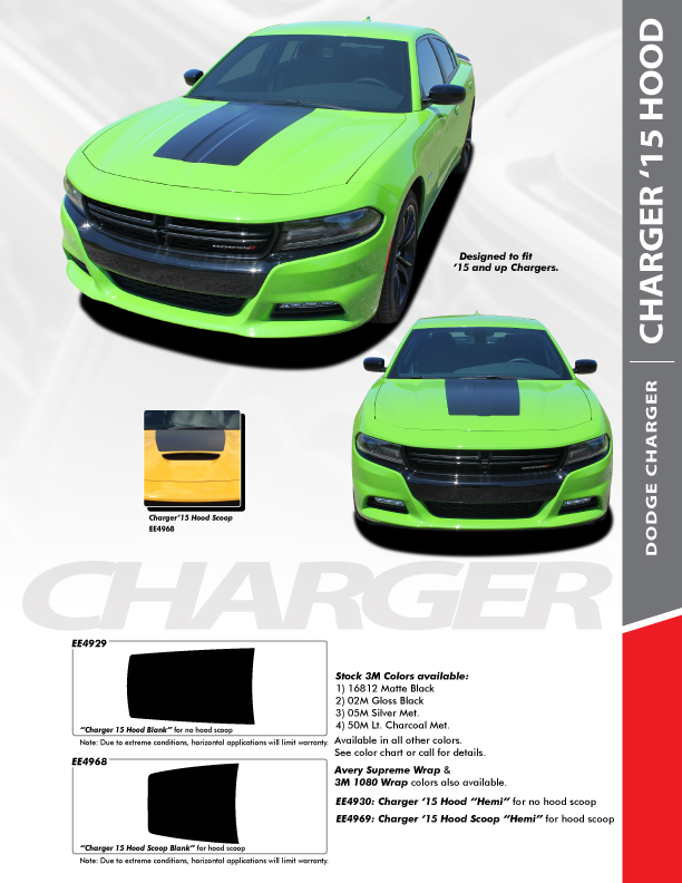 Charger Tail Band Charger 15 Hood